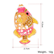 Bling Fish Brooch for Women Crystal Rhinestone Brooch Pins Costume Brooches