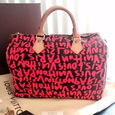 Authentic Louis Vuitton Stephen Sprouse Graffiti Speedy 30 Fuchsia pink *limited
