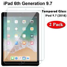 iPad 6th Gen Screen Protector Tempered Glass for Apple iPad 6th Gen 2018 9.7 2PK