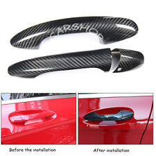 Carbon Fiber Car Door Handle Cover W/O H For Mercedes Benz W205 C E GLC GLE AMG
