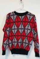 Vintage Repage Geometric Medium Sweater Made In Romania Cosby Biggie