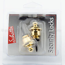 NEW Genuine Schaller Strap Security Lock System for Guitar & Bass GERMANY - GOLD