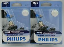 PHILIPS 9145 CV X2 BULBS H10 CRYSTAL VISION ULTRA 45W HEADLIGHT HALOGEN OEM 12V