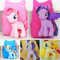 Toddler Kid Children Boy Girl 3D Plush Cartoon Unicorn Backpack School Bag Gifts