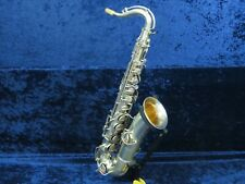 Vega Brushed Silver LP C Melody Tenor Saxophone Ser#P4427 w/Gold Wash Bell