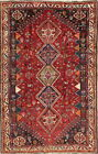 Antique Vegetable Dye Geometric Tribal Abadeh Oriental Hand-Knotted 5x8 Area Rug