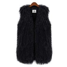Women Faux Fur Sleeveless Vest Jacket Waistcoat Gilet Wrap Outwear Bodywarmer