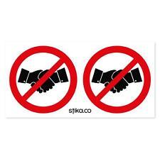 No handshake Symbol Sign, Vinyl sticker, Door, Window, Church, Clubs Notice