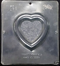 Valentine's Large Heart Frame Plaque Chocolate Plastic Candy Soap Mold CML 3039