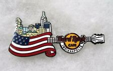 HARD ROCK CAFE INDIANAPOLIS COUNTRY FLAG SKYLINE GUITAR SERIES PIN