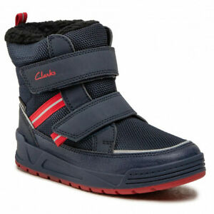 Clarks JUMPER JUMP Kids WATERPROOF Warm-lined Winter Boots 10 - 3G Fit NEW BOXED