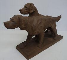 Karlsruher Majolika Setter Hunde Model 4421 Entwurf Else Bach