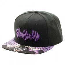 DC Comics Joker HaHaHa Batman Logo Sublimated Bill Snapback Baseball Cap Hat