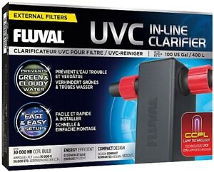 Fluval UVC In-Line Clarifier,Brand New.clears algae problems/green water  +timer