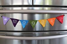 Balinese Chakra / Prayer Flags Magnet - Magnetic Bali Prayer Bunting