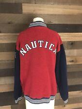 Vintage Nautica Spellout 1/4 Zip Fleece Mens Size Medium Streetwear Sailing