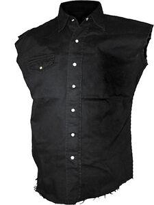 Spiral Direct Plain Sleeveless Work Shirt, Biker/Tattoo/Skull/Rock/M L XL XXL