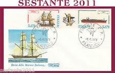 ITALIA FDC ROMA 1978 STORIA MARINA ITALIANA COSTRUZIONI NAVALI ANN. FIRENZE G810