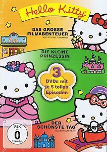 Hello Kitty - 3 DVDs  NEU Kleine Prinzessin Schönste Tag GROSSE FILMABENTEUER