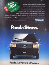 PUBLICITÉ 1990 FIAT PANDA STRASS LA VOITURE A MALICES - ADVERTISING