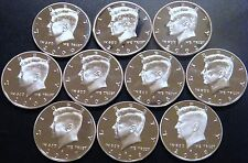 2000 - 2009 S Kennedy Half Dollar Gem DCam Proof Run 10 Coin Set CN-Clad US Mint