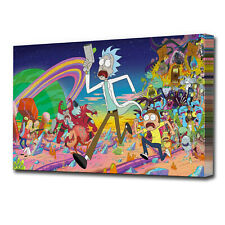 OIL ACYRILC RICK AND MORTY CANVAS EZ1681