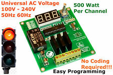 Traffic Light Controller Sequencer 100-240VAC No coding Required Universal AC