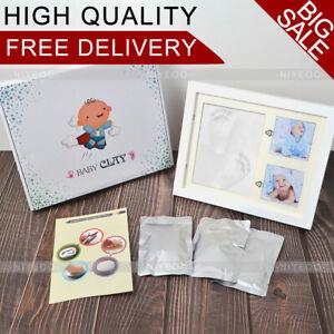 Baby Hand Foot Print Casting Clay Photo Frame Christening Keepsake Gift Clay Kit
