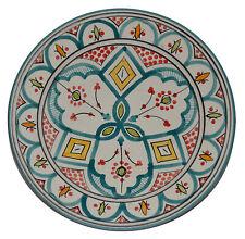 "Moroccan Ceramic Plate Salad Pasta Bowl Serving Handmade Wall Hanging 10"" Medium"