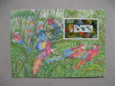 GERMANY BRD, maximumcard maxi card 1996, protect the jungle, parrot butterfly