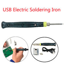 Mini USB Electric Powered Soldering Iron Pen Welding Kit LED Tip Touch Switch 5V