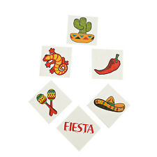 36 Assorted Fun Fiesta Kids Temporary Tattoos Party Favors