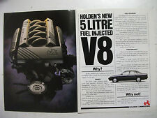 HOLDEN VN COMMODORE V8 2 PAGE COLOUR MAGAZINE ADVERTISEMENT