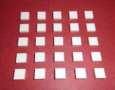 LEGO (3070) 25 Piastrelle 1x1, bianco da 10243 10182 7679 5591