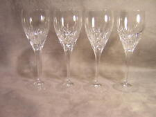 "4 Waterford Crystal Eclipse Nocturne 8 1/2"" Water Goblets ~ Lot 2"