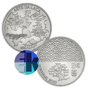 Ek // 5 euro Cu Ni Portugal 2021 Art de la Laque