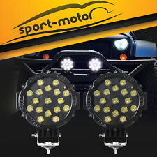 2x 7inch 51W Round Off Road Led Work Lights for Jeep Truck Bumper Driving Black