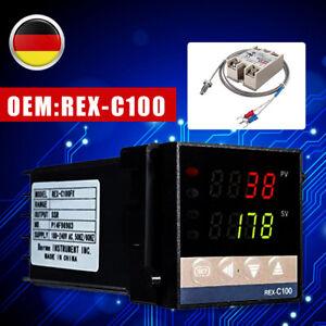 0- 1300 °C Digitaler -PID-Temperaturregler REX-C100 eingestellt+K Thermoelement