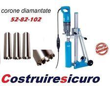 carotatrice baier bdb 817 carotatore ad acqua c/ telaio + corone 52-82-102x420