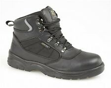 Grafters FLAME Mens S3 SRC WR Nubuck Leather Steel Toe Work Safety Boots Black