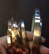 Vintage Destash Old Rose Gold Metallic Craft Embellishment Tape Size Rolls Lot