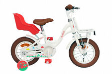 "Bike Spring Kids 12"" Inch 20 cm Girls Junior Doll Seat Carrier White"