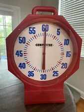 "Vintage Competitor Battery Operated Competive Swimmers 15"" Pace Clock"