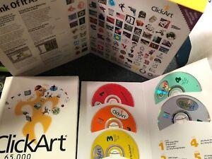 Broderbund Click Art 65,000 Users Guide & Visual Catalog 5 Cd Window 95 COMPLETE
