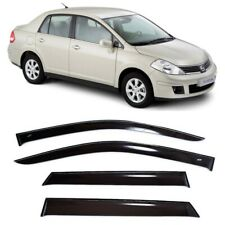 For Nissan Tiida (C11) Sd 2004-2014 Window Visors Sun Rain Guard Vent Deflectors