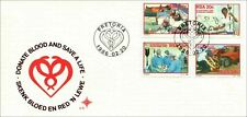 South Africa First Day Cover - No. 4.15 - Donate Blood - 20/02/1986