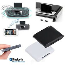 Bluetooth A2DP Music Receiver Audio Adapter For iPod iPhone 30Pin Dock Speaker