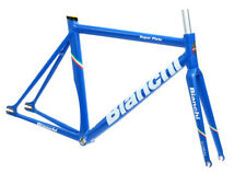 Bianchi Super Pista Frameset 53cm Azzurro Blue Track Carbon Fork NEW in Box