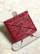 Coral Rose Pink  Silky Metallic Embellishing Twine Thread x 3m Wonderfil Dazzle