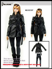 "Dollsfigure Cc157 1/6 Female Leather Cloth Suit Pants Model For 12"" Body"